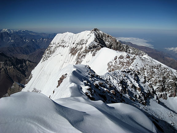 view from Aconcagua in South America
