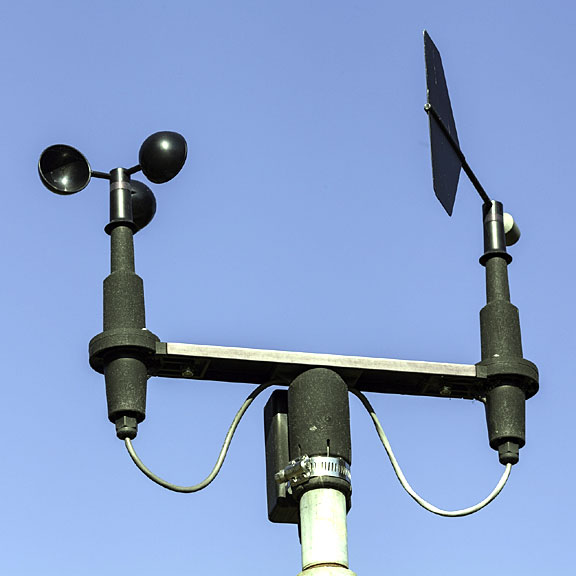 anemometer - measures wind direction and wind speed