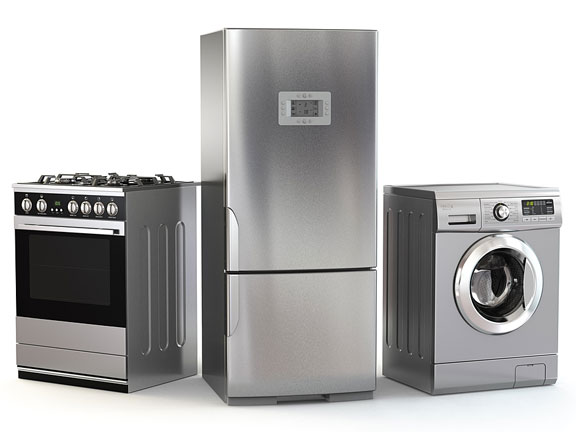 refrigerator, gas stove, and washing machine