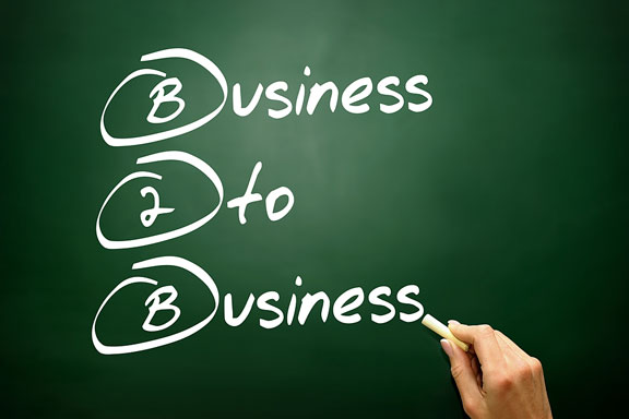 business to business - b2b - concept