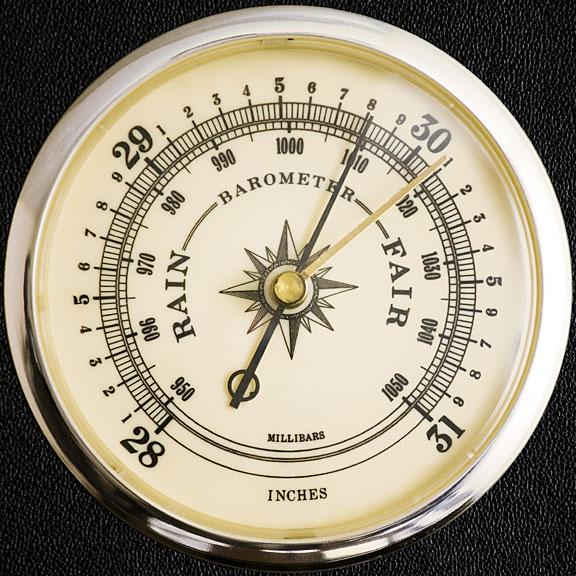 barometer - measures air pressure
