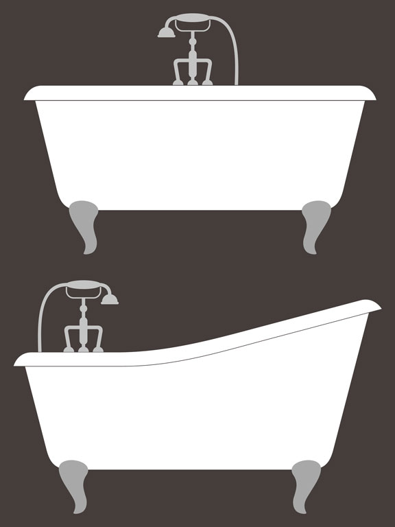 classic bathtubs with faucets