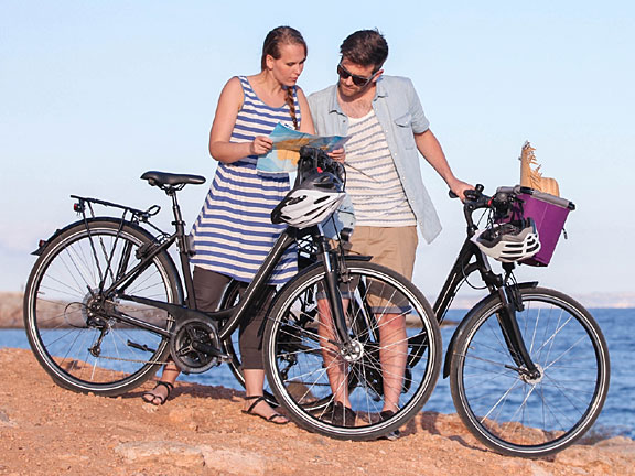 bicycle tourists on an excursion
