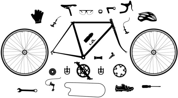bicycle parts and cycling accessories