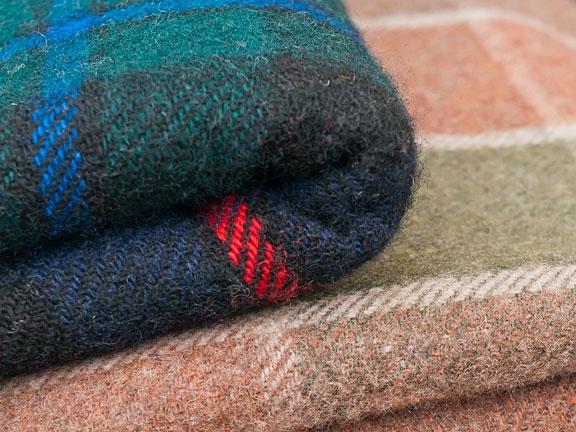 two wool blankets