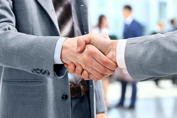 business transaction handshake