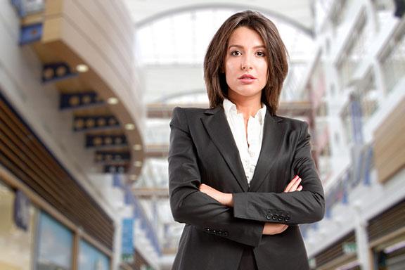 businesswoman executive at corporate headquarters