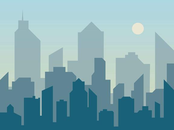 abstract city skyline