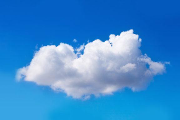 cumulus cloud in an azure sky