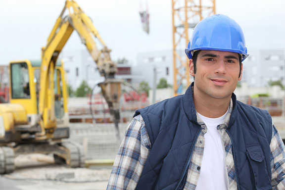 construction worker at a construction site