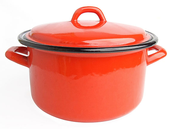 enamel cook pot and lid