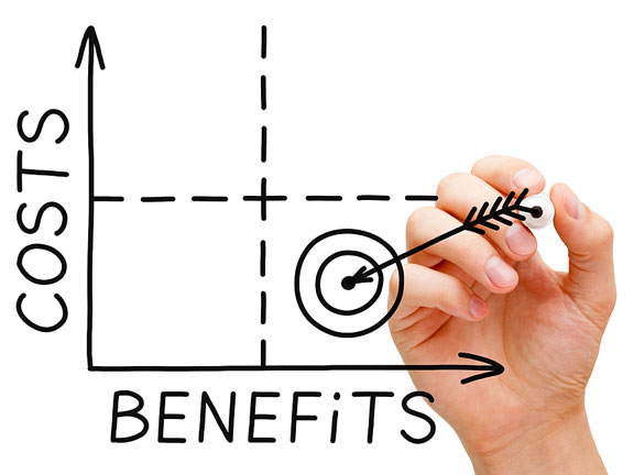 costs and benefits chart