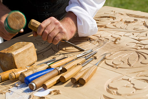 craftsman using hand tools