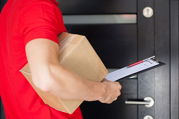 package delivery to a front door