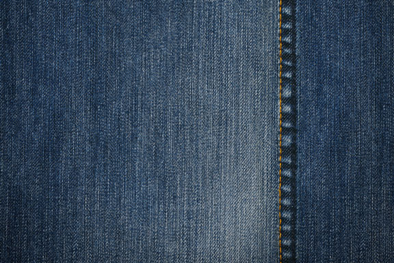 denim jeans material, with seam