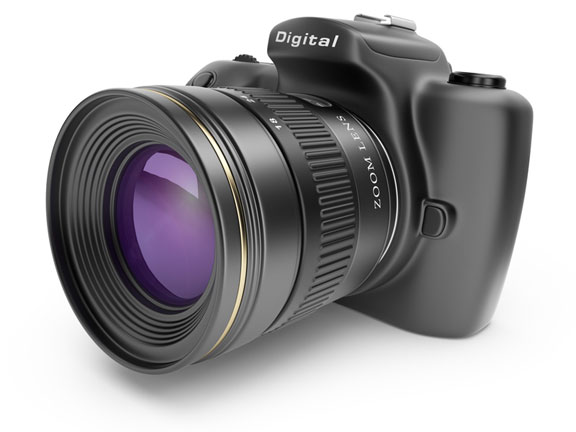 digital SLR camera and zoom lens
