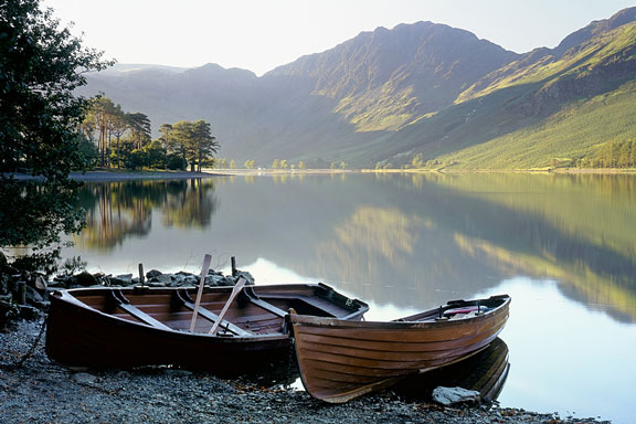 rowboats in the Cumbrian lake district