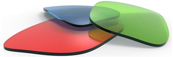 colorful eyeglass lenses