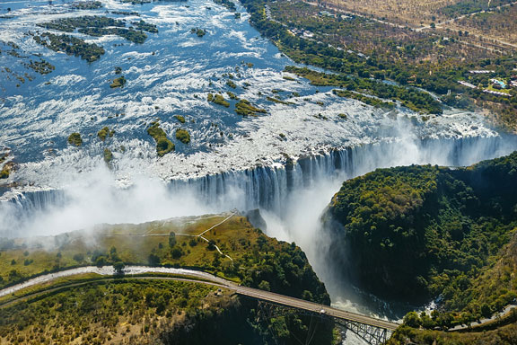 Victoria Falls, between Zambia and Zimbabwe