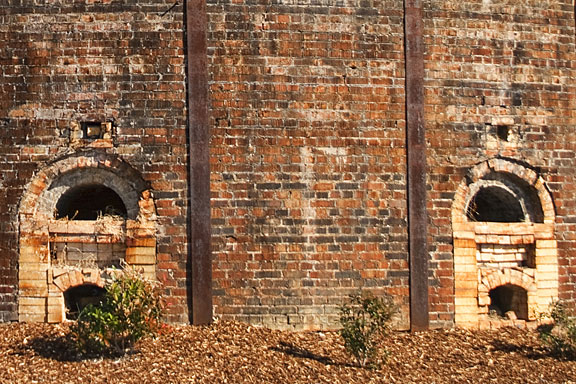 fireplaces in a brick kiln, Decatur, Alabama