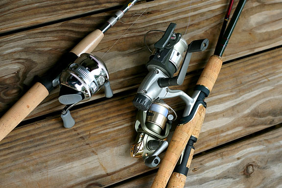 fishing reels and fishing rods