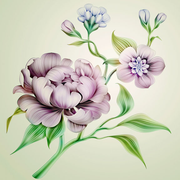 flowers and leaves illustration