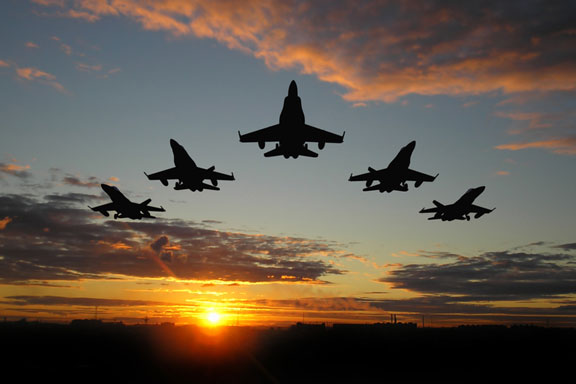 military jet bombers