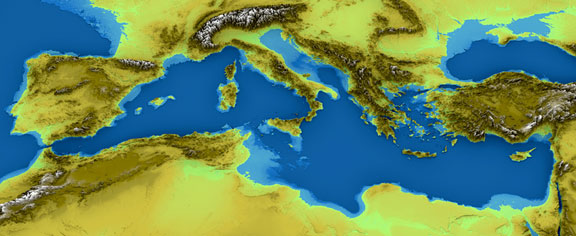 map of the Mediterranean Sea region