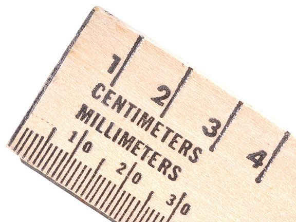 wooden metric ruler