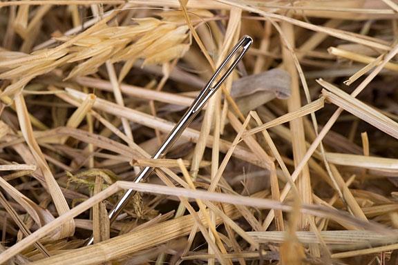 steel needle in a haystack