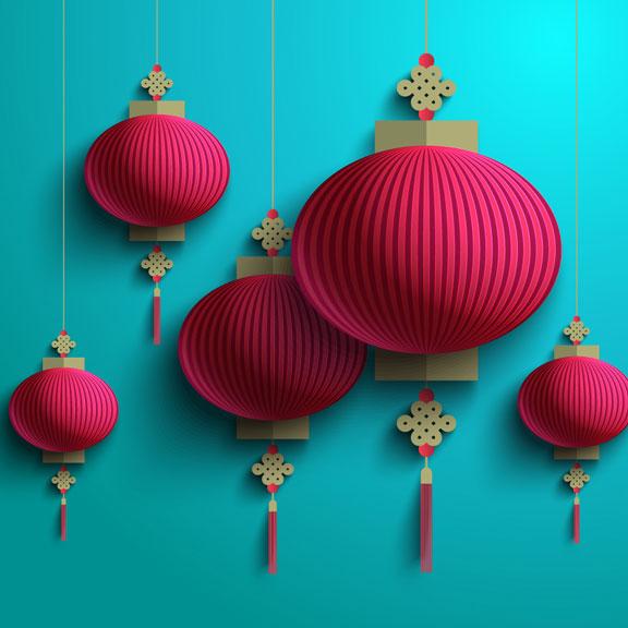 oriental paper lanterns
