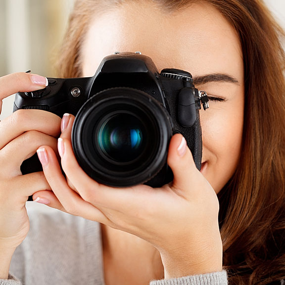 woman doing photography