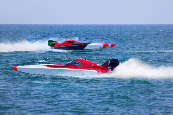 two power boats