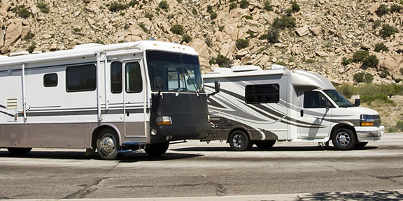 two recreational vehicles in Arizona