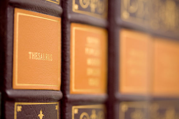 reference library with thesaurus
