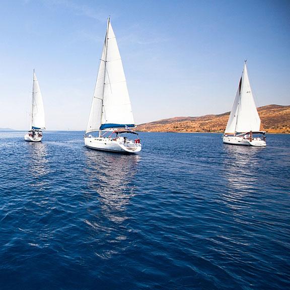 two sailing yachts