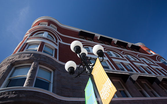 San Diego gas lamps and Keating Building