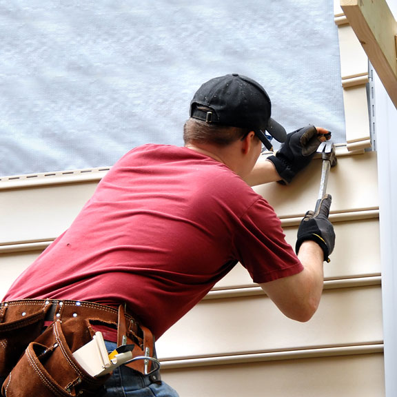 installing siding on a home