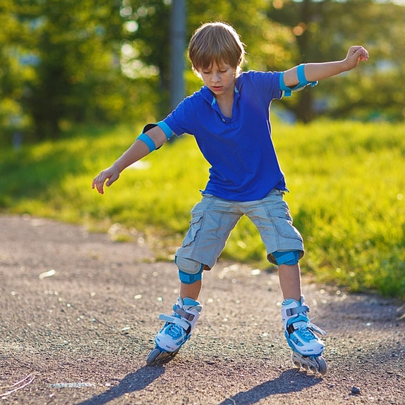 young inline skater