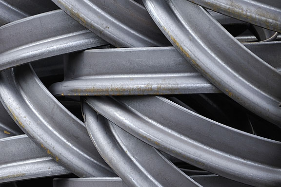 gray steel rims