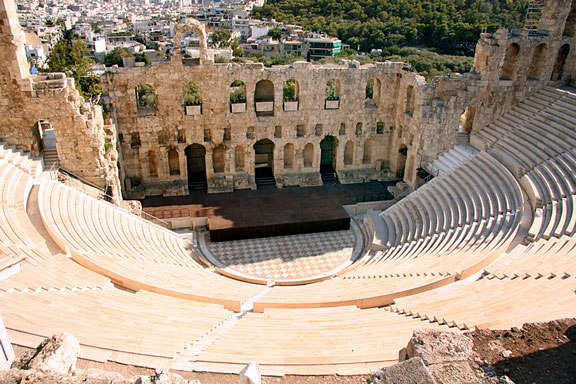ancient theater in Athens, Greece