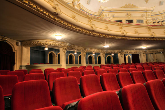 old theatre with red seats
