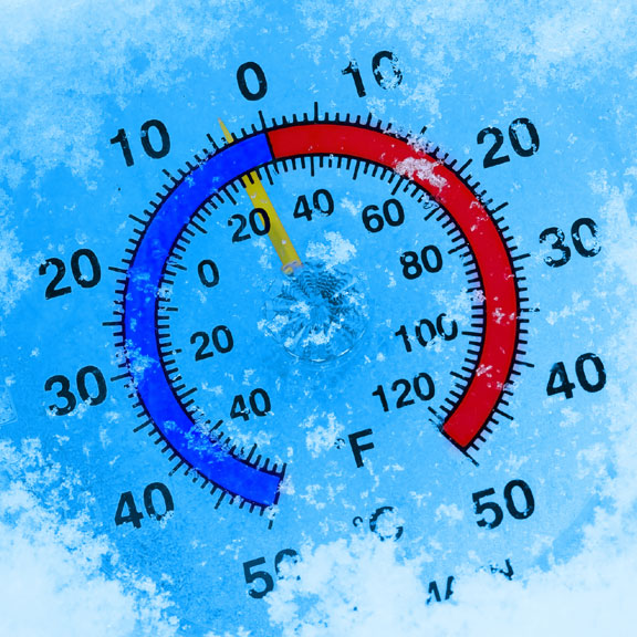 thermometer - measures air temperature