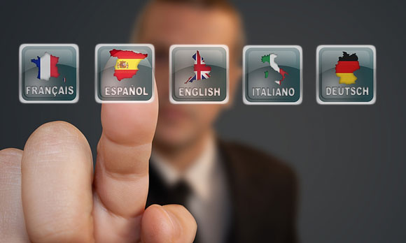 language selection icons