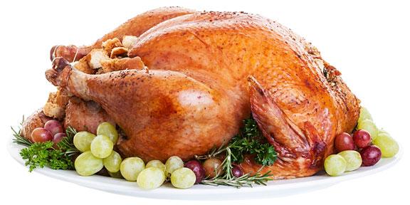 roast turkey on a platter