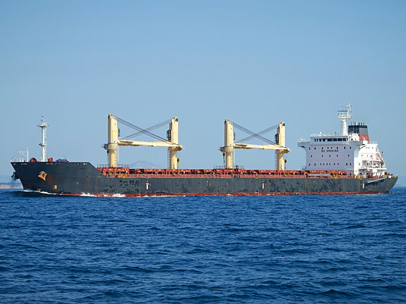 cargo vessel at sea