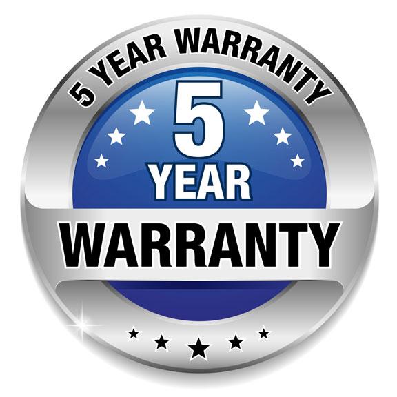 5 year waranty