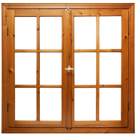 wood casement window