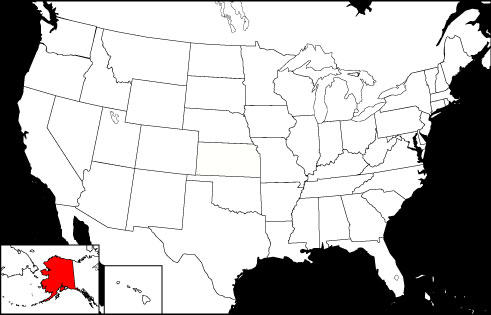 Alaska locator map