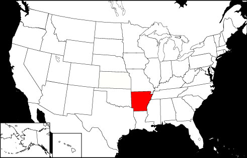 Arkansas locator map